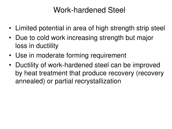 Limited potential in area of high strength strip steel
