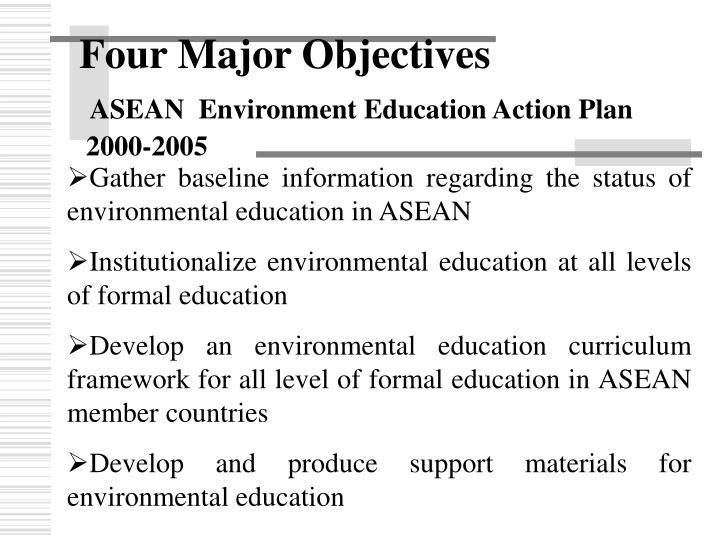 Four Major Objectives
