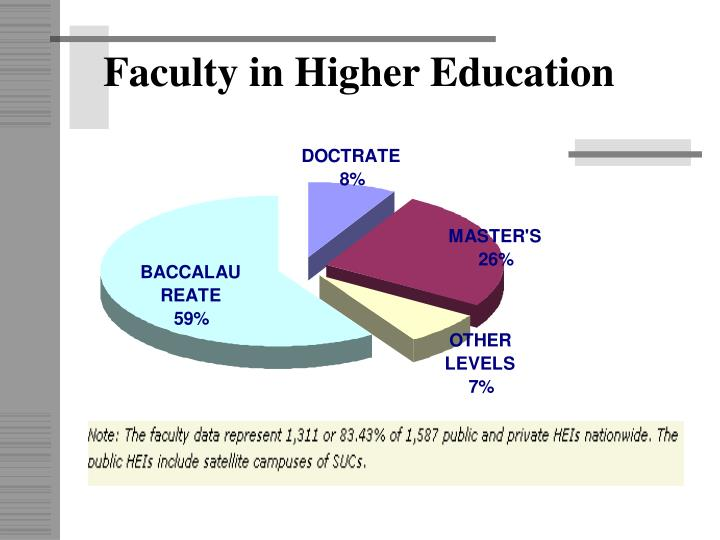 Faculty in Higher Education