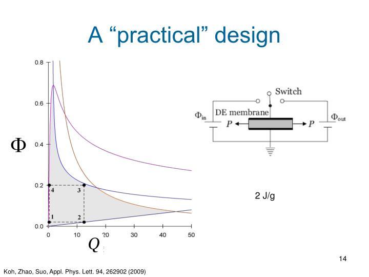 """A """"practical"""" design"""