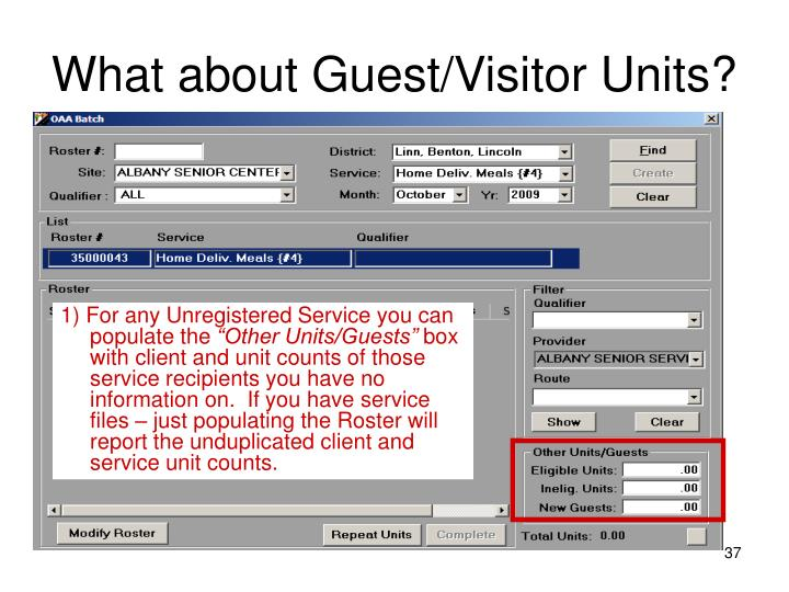 What about Guest/Visitor Units?