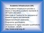 academic infrastructure uk