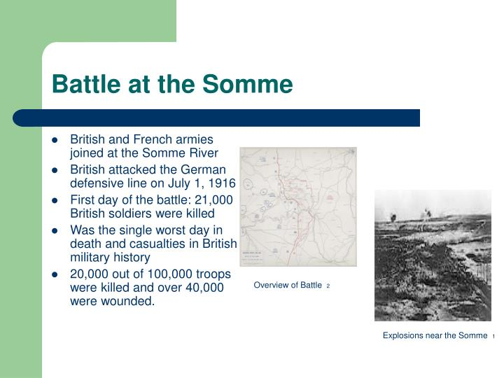 Battle at the Somme