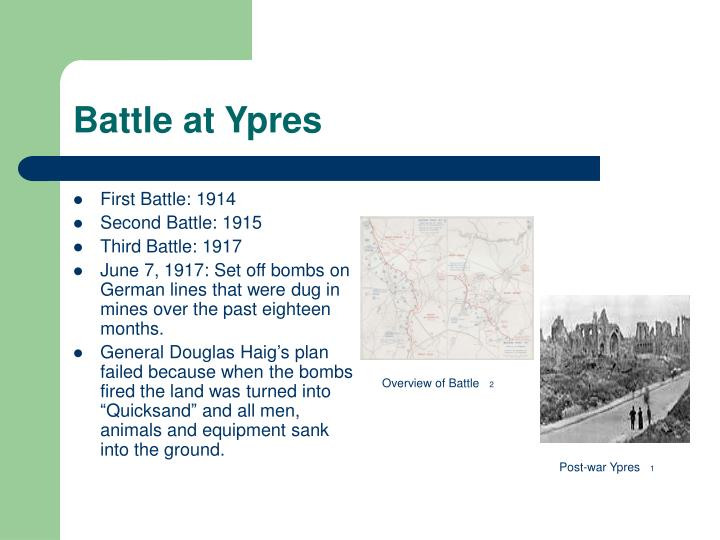 Battle at Ypres
