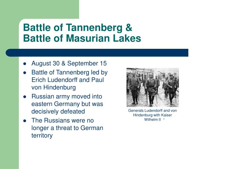 Battle of Tannenberg &