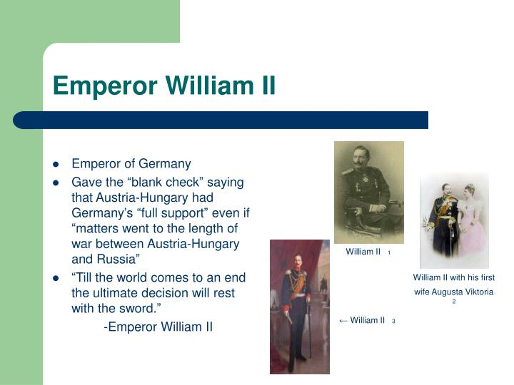 Emperor William II
