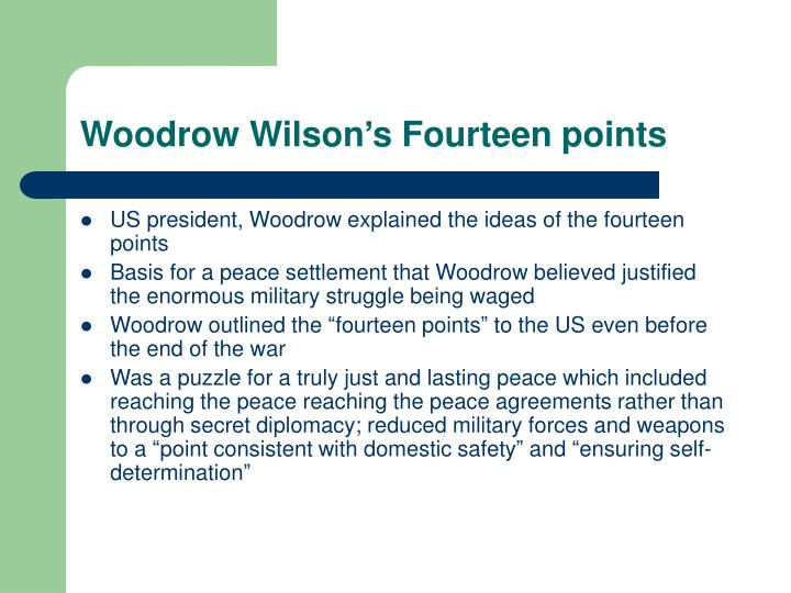Woodrow Wilson's Fourteen points