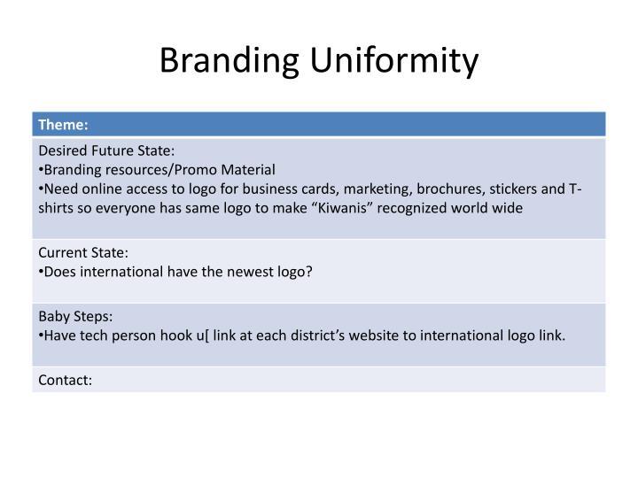 Branding Uniformity