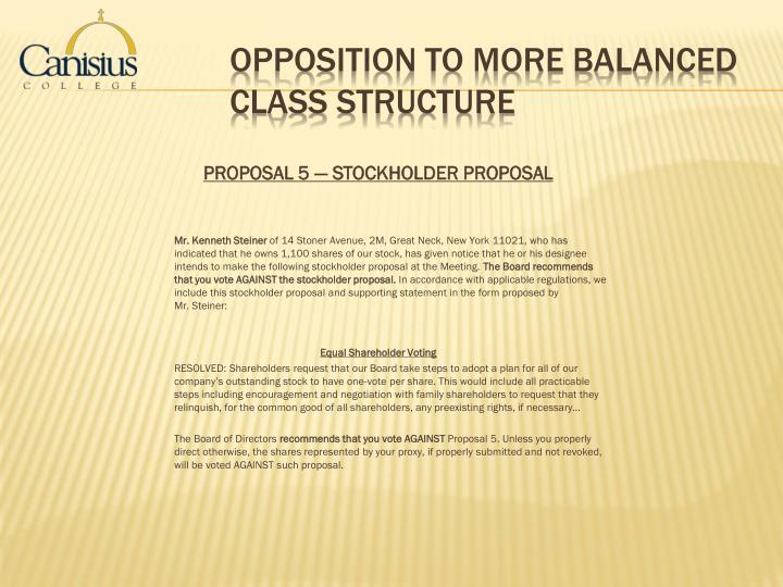 PROPOSAL5 — STOCKHOLDER PROPOSAL