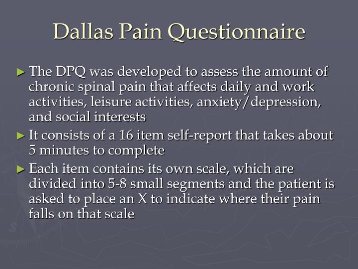 Dallas Pain Questionnaire