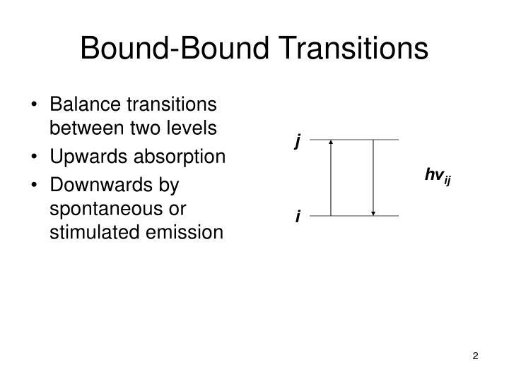 Bound-Bound Transitions