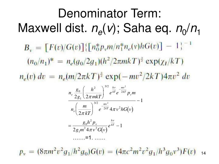 Denominator Term: