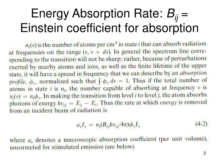 Energy Absorption Rate: