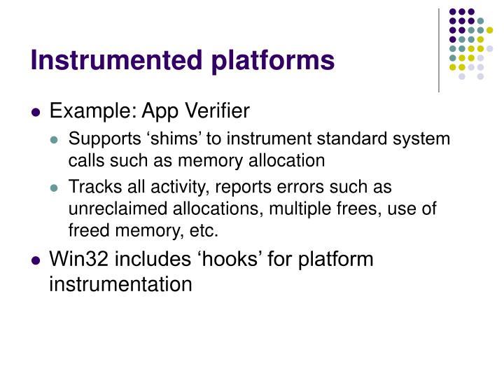 Instrumented platforms