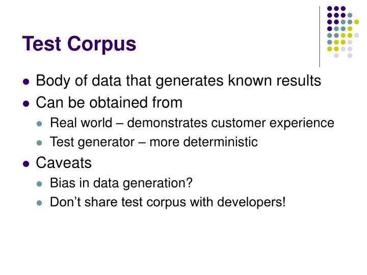 Test Corpus