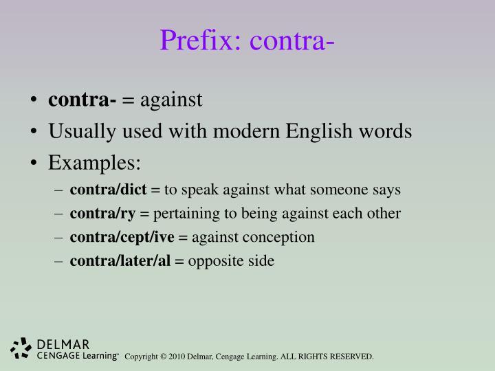 Prefix: contra-