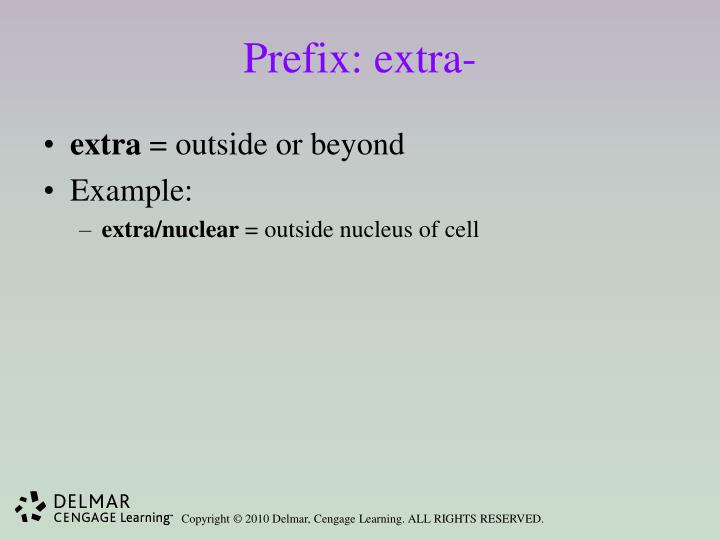 Prefix: extra-