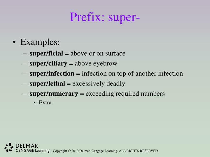 Prefix: super-