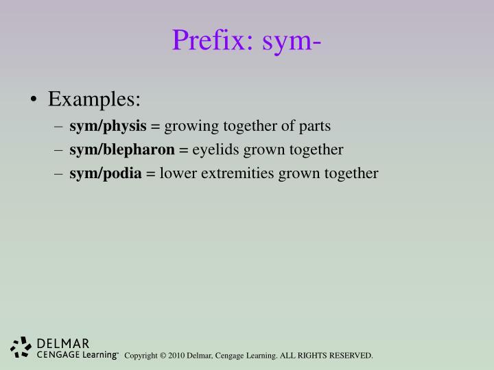 Prefix: sym-