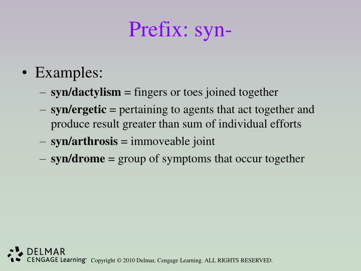 Prefix: syn-