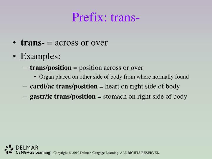 Prefix: trans-