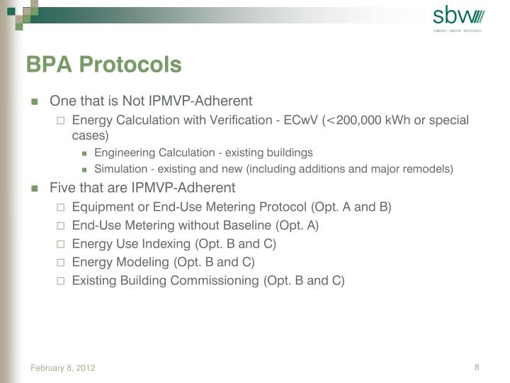 BPA Protocols