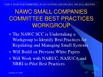 nawc small companies committee best practices workgroup