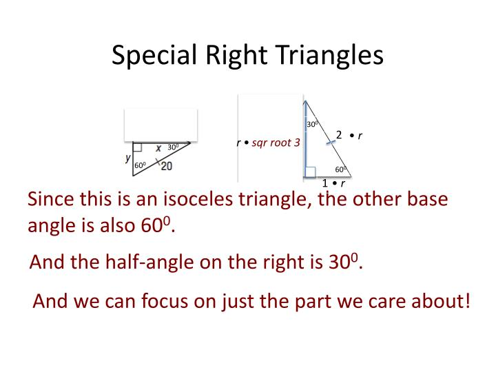 Special Right Triangles