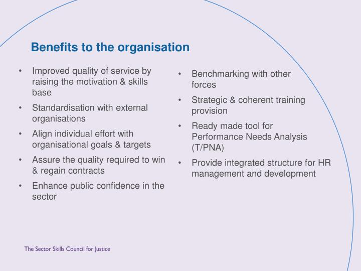 Improved quality of service by raising the motivation & skills base