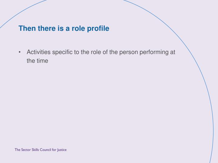 Then there is a role profile