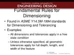 fundamental rules for dimensioning1