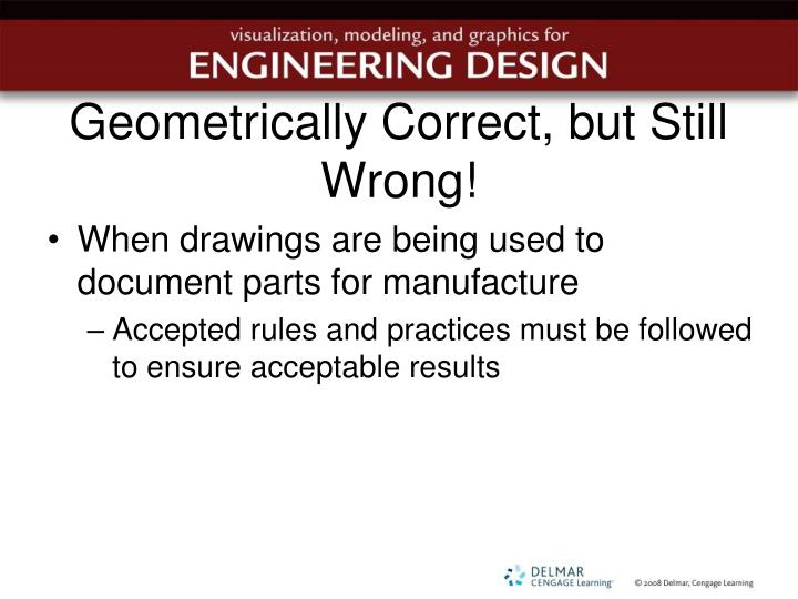 Geometrically Correct, but Still Wrong!