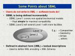 some points about sbml