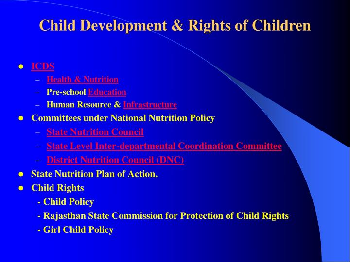 Child Development & Rights of Children