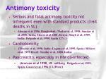 antimony toxicity