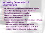 increasing devastation of leishmaniasis