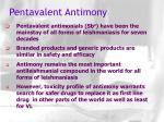pentavalent antimony