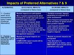 impacts of preferred alternatives 7 9