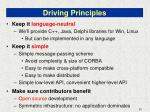 driving principles