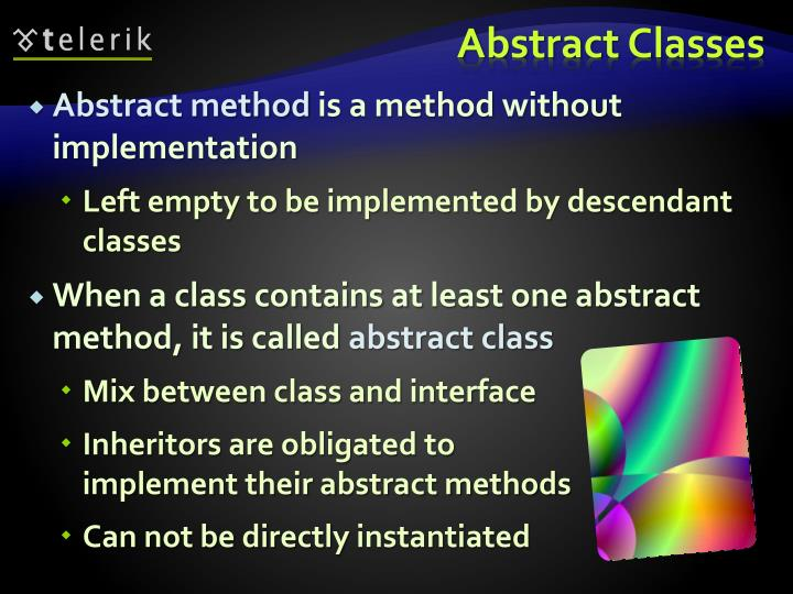 Abstract method