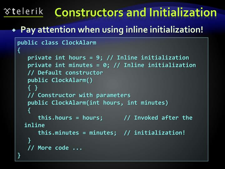Pay attention when using inline initialization!