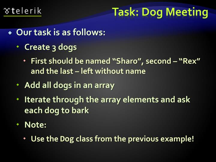 Our task is as follows: