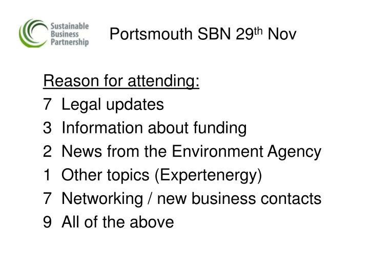 Portsmouth sbn 29 th nov1