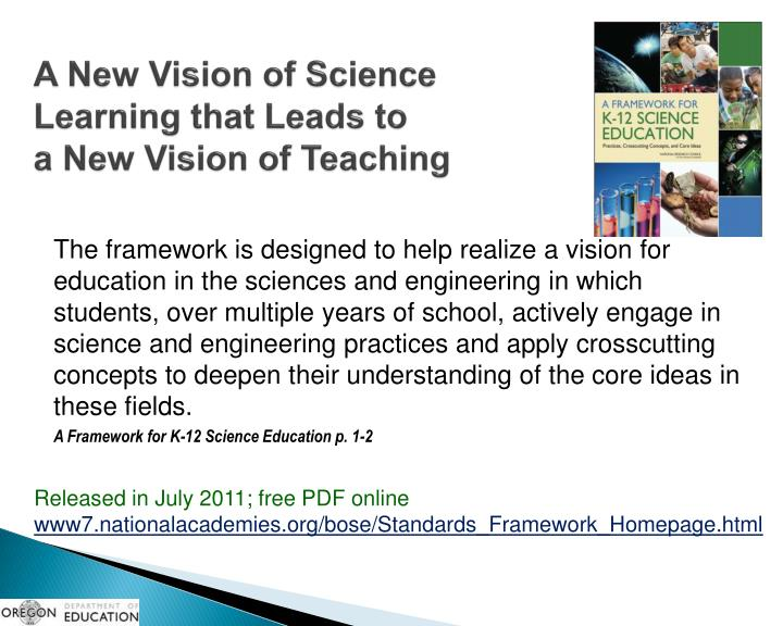 A New Vision of Science Learning that Leads to