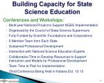building capacity for state science education