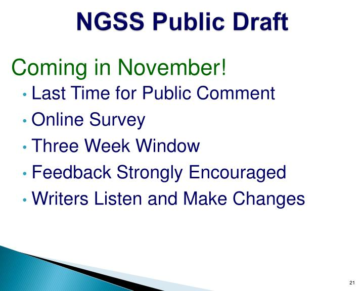 NGSS Public Draft