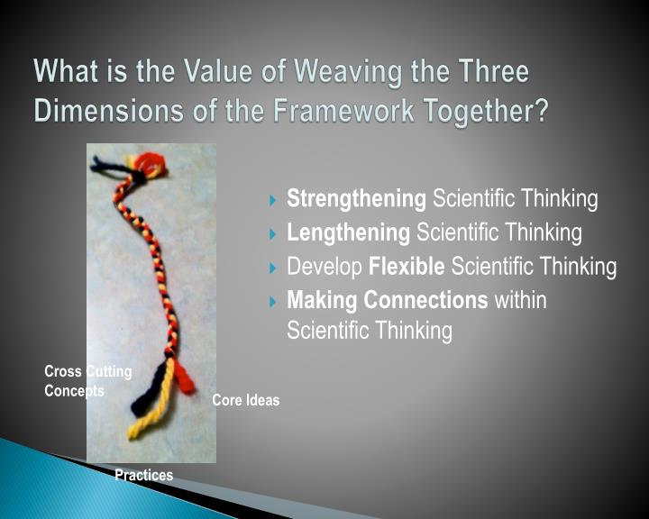 What is the Value of Weaving the Three Dimensions of the Framework Together?