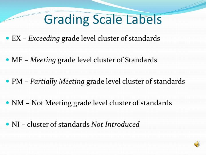 Grading Scale Labels