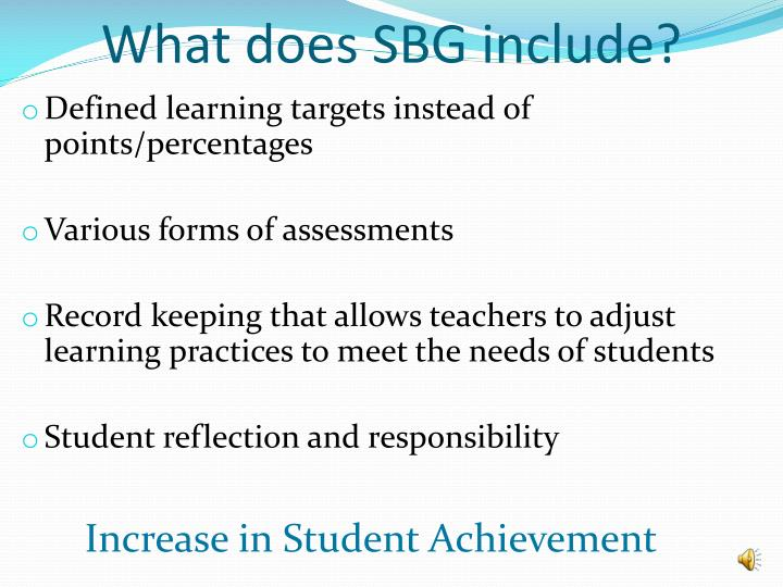 What does SBG include?