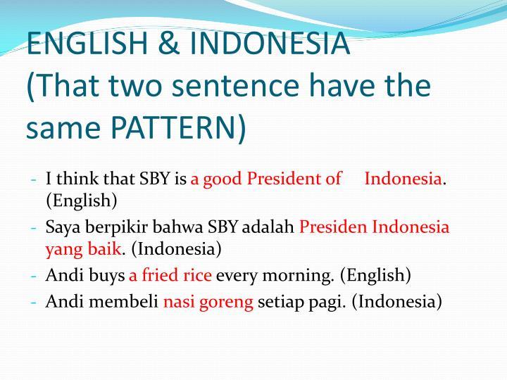 ENGLISH & INDONESIA